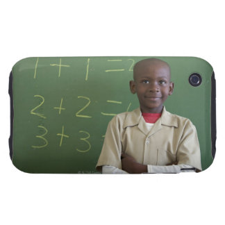 Portrait of a schoolboy at the classroom iPhone 3 tough covers