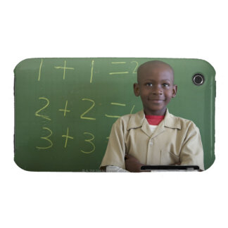 Portrait of a schoolboy at the classroom Case-Mate iPhone 3 case