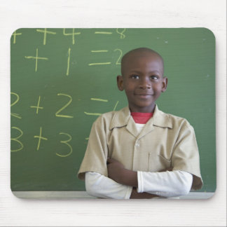 Portrait of a schoolboy at the classroom mouse pad