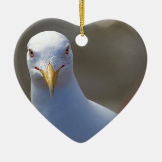 portrait of a seagull ceramic ornament