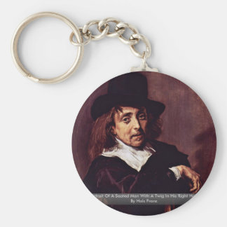 Portrait Of A Seated Man With A Twig Key Chains