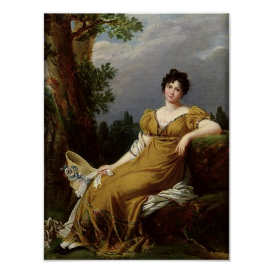 Portrait of a Seated Woman Poster