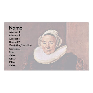 Portrait Of A Seated Woman Wearing White Gloves Double-Sided Standard Business Cards (Pack Of 100)