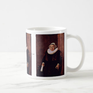 Portrait Of A Seated Woman Wearing White Gloves Mugs