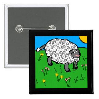 Portrait of a Sheepity-Sheep Pinback Button