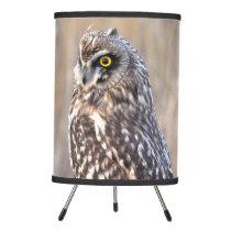 Portrait of a Short-Eared Owl Tripod Lamp