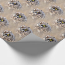 Portrait of a Short-Eared Owl Wrapping Paper