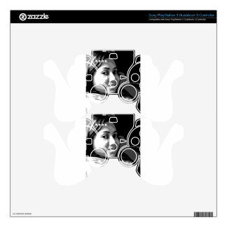 Portrait of a Smiling Asian girl PS3 Controller Decals