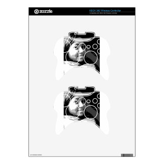 Portrait of a Smiling Asian girl Xbox 360 Controller Decal