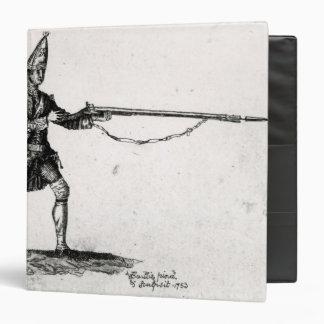 Portrait of a soldier, 1753 binder