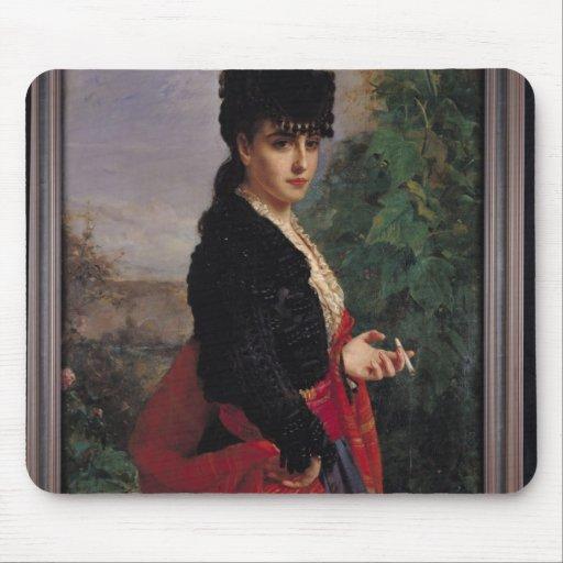 Portrait of a Spanish Woman Mousepads
