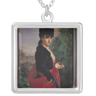 Portrait of a Spanish Woman Silver Plated Necklace