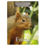 Portrait of a Squirrel Nature Animal Photography Clipboard