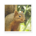 Portrait of a Squirrel Nature Animal Photography Napkin