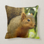 Portrait of a Squirrel Nature Animal Photography Throw Pillow