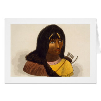 Portrait of a Stone Indian, from 'Narrative of a J Card