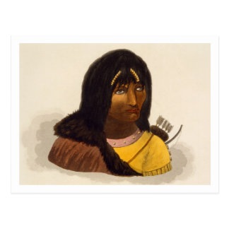 Portrait of a Stone Indian, from 'Narrative of a J Postcard