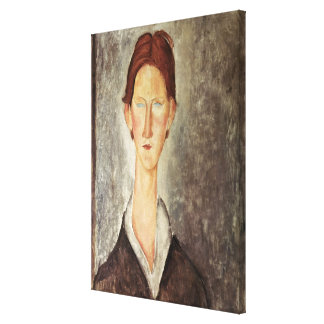 Portrait of a Student, c.1918-19 Canvas Print