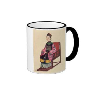 Portrait of a Tartar Woman (w/c) Ringer Mug