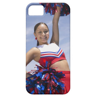 Portrait of a Teenage Cheerleader Holding iPhone 5 Covers