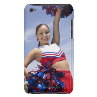 Portrait of a Teenage Cheerleader Holding iPod Touch Case