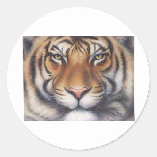 Portrait of a Tiger Classic Round Sticker