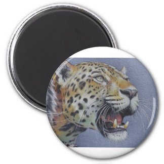 Portrait of a Tiger Head Magnet