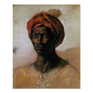 Portrait of a Turk in a Turban, c.1826 Poster