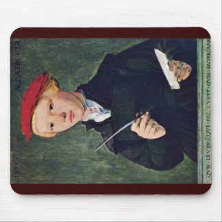 Portrait Of A Twelve Year Old Student.,  By Attrib Mouse Pad