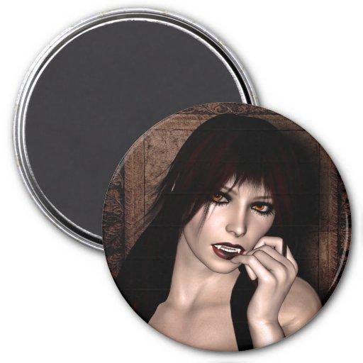 Portrait of a Vampire Fantasy 3D Refrigerator Magnets