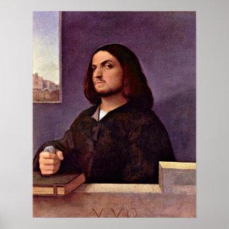 Portrait of a Venetian nobleman by Tiziano Vecelli Print