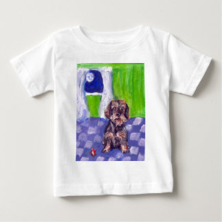 Portrait of a Wirehaired Dachshund Baby T-Shirt