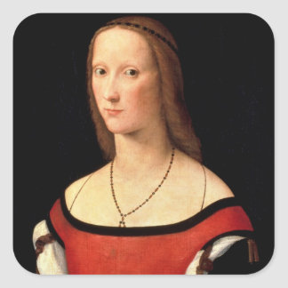 Portrait of a Woman, 1500s Square Sticker
