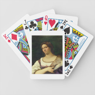 Portrait of a Woman, 1512 (oil on canvas) Bicycle Playing Cards