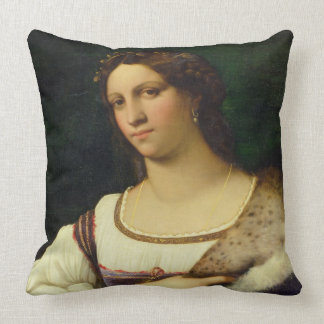 Portrait of a Woman, 1512 (oil on canvas) Pillow