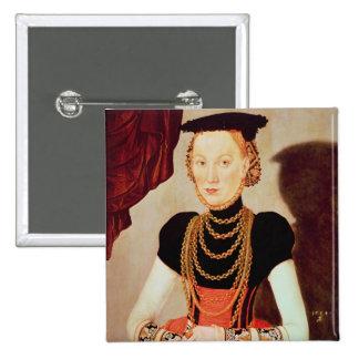 Portrait of a woman, 1564 button