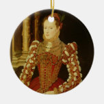 Portrait of a Woman, 1567 (oil on panel) Christmas Tree Ornaments