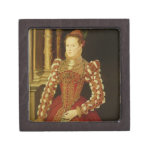 Portrait of a Woman, 1567 (oil on panel) Premium Jewelry Box