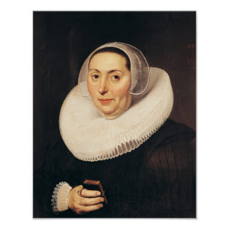Portrait of a Woman, 1665 Poster