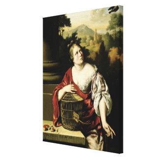 Portrait of a Woman, 1687 Canvas Print
