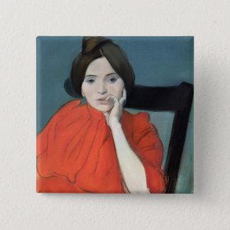 Portrait of a Woman, 1890 Pinback Button