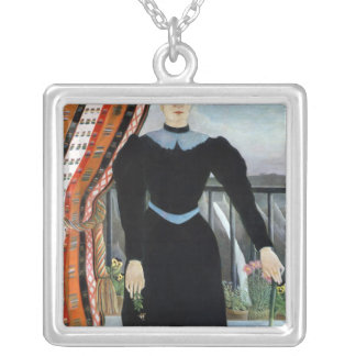 Portrait of a Woman, 1895 Silver Plated Necklace