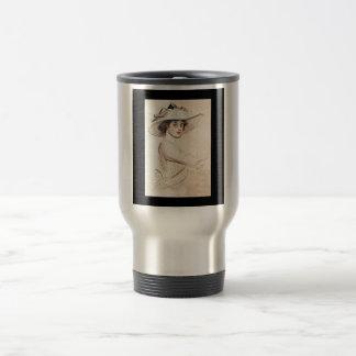Portrait of a Woman 1909~  Paul César Helleu Travel Mug
