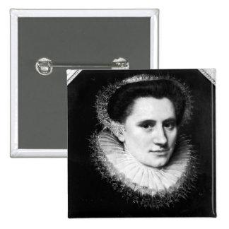 Portrait of a woman 2 inch square button