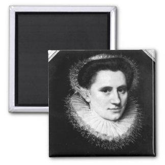 Portrait of a woman 2 inch square magnet
