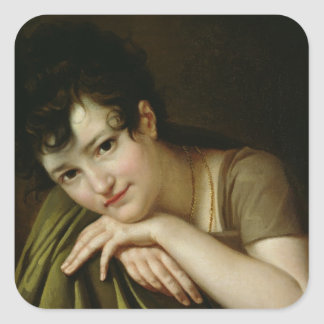 Portrait of a Woman 2 Square Sticker