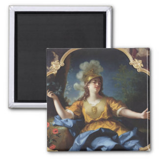 Portrait of a Woman as Minerva, 1730 Magnet
