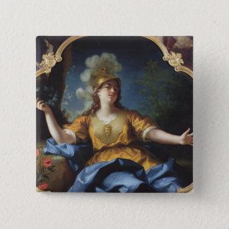 Portrait of a Woman as Minerva, 1730 Pinback Button