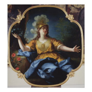 Portrait of a Woman as Minerva, 1730 Poster