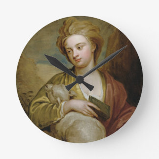 Portrait of a Woman as St. Agnes, traditionally id Round Clock